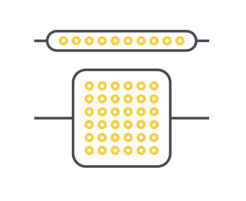 Fixtures matrix/strip representation